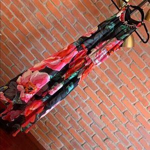 Dresses & Skirts - MSK hi-lo floral gown